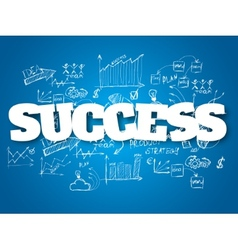 Business background success concept vector