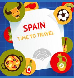 Spain background template vector
