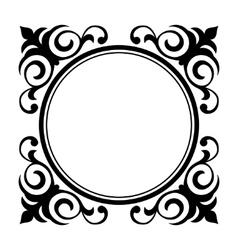Circle ornamental decorative frame vector