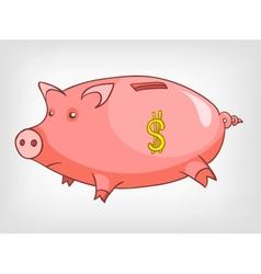 Cartoons decoration piggy bank vector
