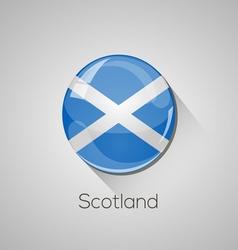 European flags set - scotland vector