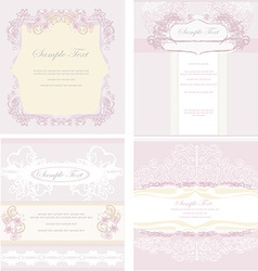 Wedding reception card set vector