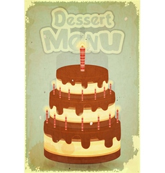 Cake with candles vector