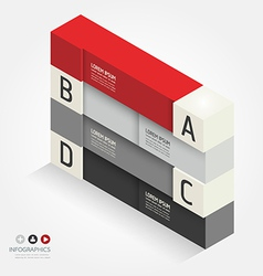 Modern isometric design template vector