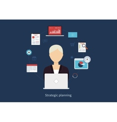 Concept of consulting services education project vector