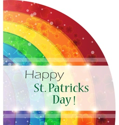 St patricks day rainbow background vector