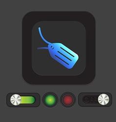 Label icon button vector