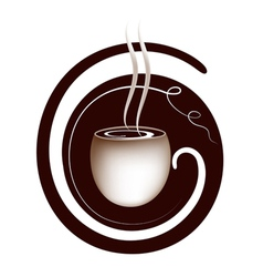 Coffee lettering sign vector