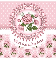 Background with rose vector