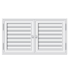 Door shutters on isolate background vector