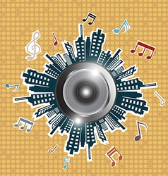 Music in the city vector