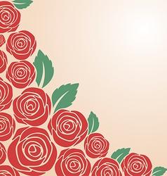 Red rose bush vector