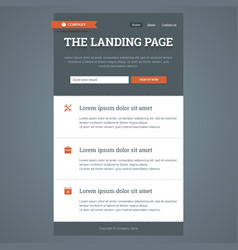 Landing page in flat style vector
