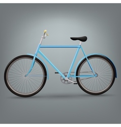 Blue bicycle vector