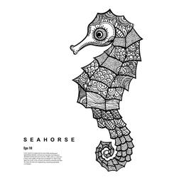 Tribal seahorse vector