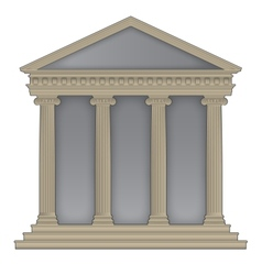 Romangreek temple vector