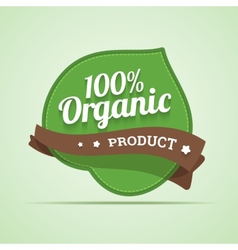 Organic product label vector