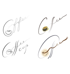 Coffee handwritten sign set vector
