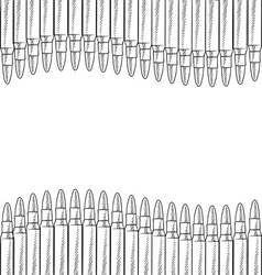 Doodle bullets border horizontal vector