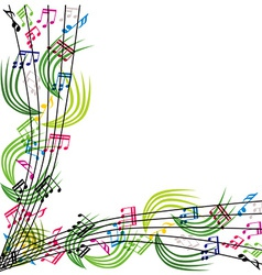 Music notes composition stylish musical theme vector