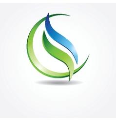 Green ecological banner vector