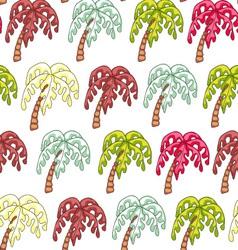 Palm endless seamless pattern vector