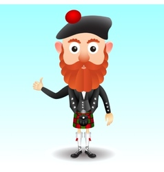 Scottish character in kilt vector
