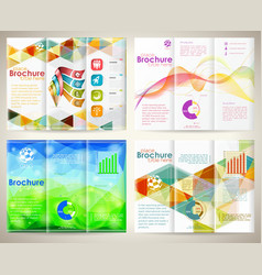 Collect brochures design template vector