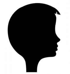 Girl's head silhouette vector