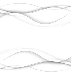 Abstract white waves - data stream concept vector