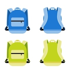Schoolbag icon vector
