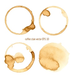 Set coffee abstract watercolor vector