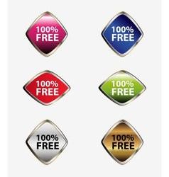 100 percent free label tag set vector