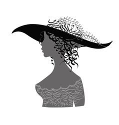 Calligraphy lady vector