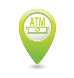 Atm green map pointer vector