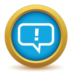 Gold answer icon vector