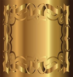 Royal vintage frame gold background vector