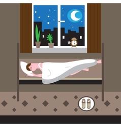 Sleeping man vector
