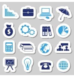 Economy stickers vector