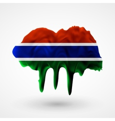Flag of gambia painted colors vector
