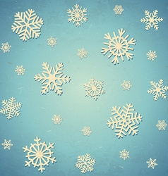 Aged card with snowflakes vector