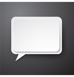 Paper white speech bubble vector