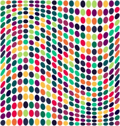 Seamless geometric pattern vertical wavy dots vector