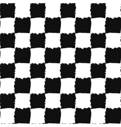 Check black and white seamless pattern vector