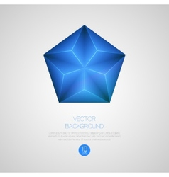 3d triangular background vector