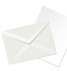 Letter envelope and white paper vector