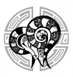Zodiac signs aries vector