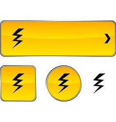 Warning button set vector