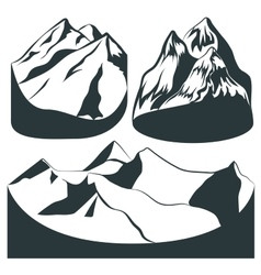 Set background mountains rocks landscape vector
