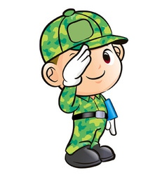 Salute to the soldier character vector